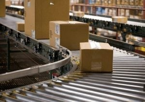 Packaging on distribution line