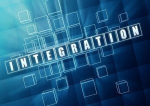 integration, illustrated by numerous squares