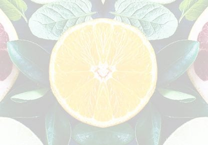 Symmetrical image of various citrus fruit slices