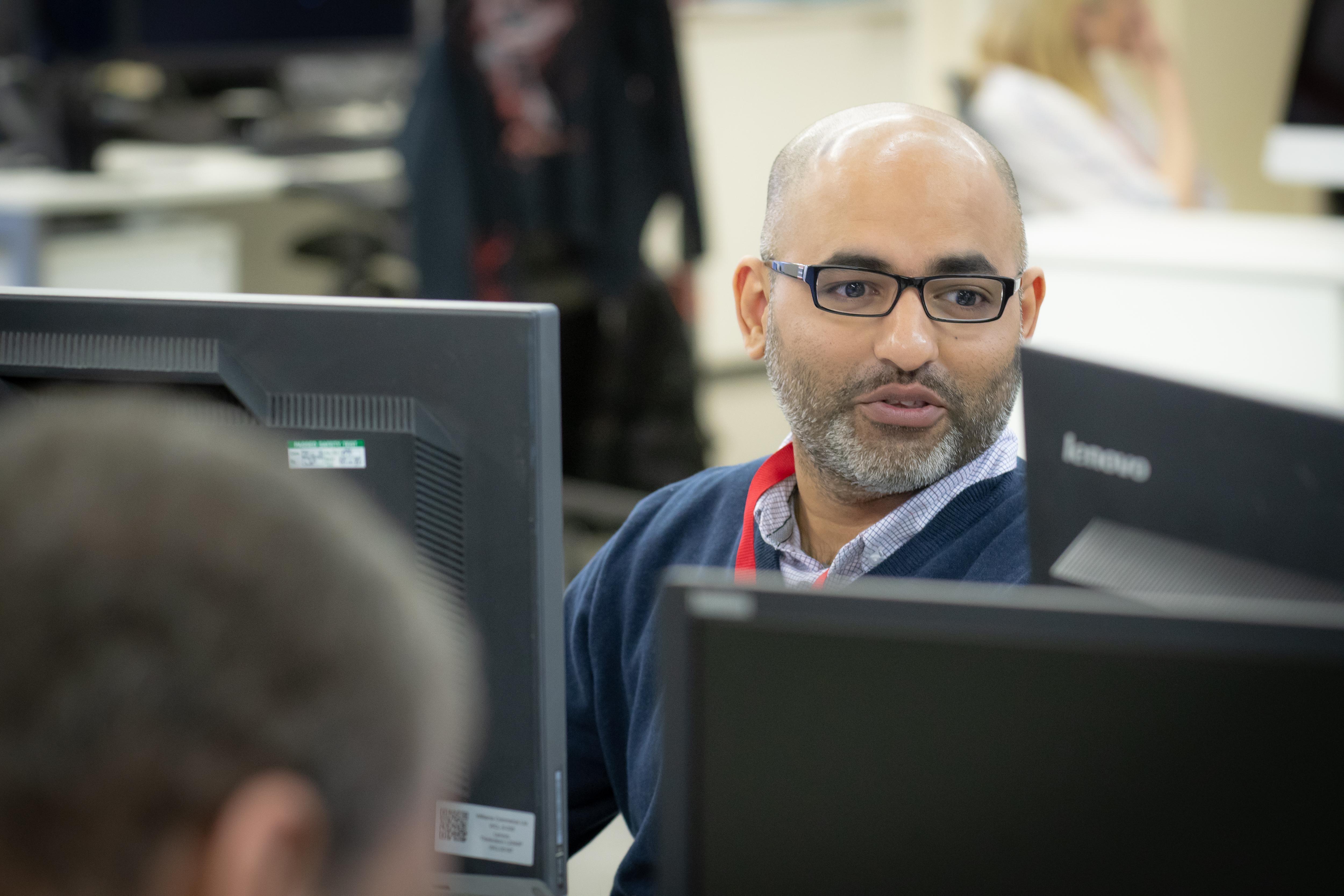 Ankit Jadav hard at work at Williams Commerce