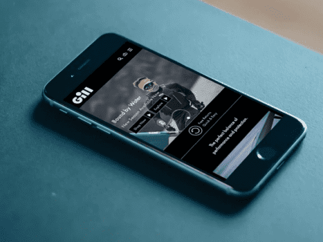 The Gill Marine website on a mobile device