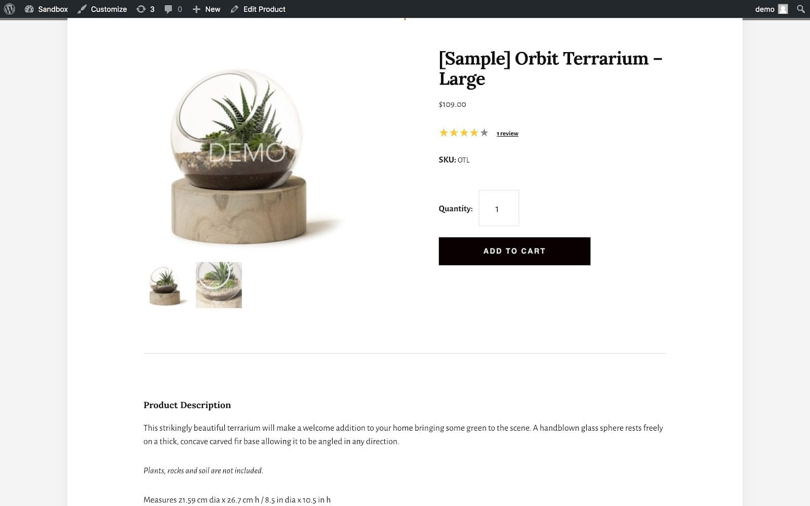 BigCommerce Product Description within WordPress