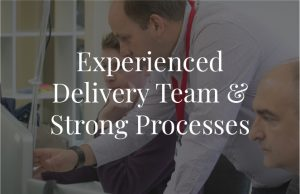 Experienced Delivery Team & Strong Processes@2x