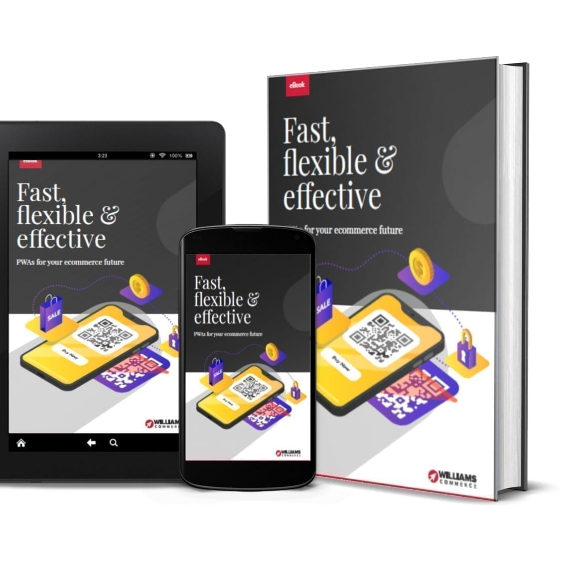 PWAs ebook on different devices