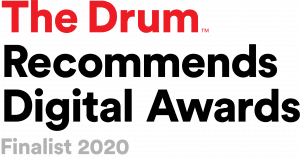 Drum Recommends finalist badge