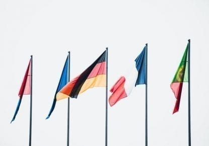 Flags representing the European countries and the changes to VAT regulations
