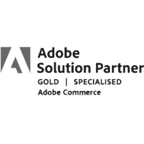 Adobe Solution Partner Gold Specialized greyscale